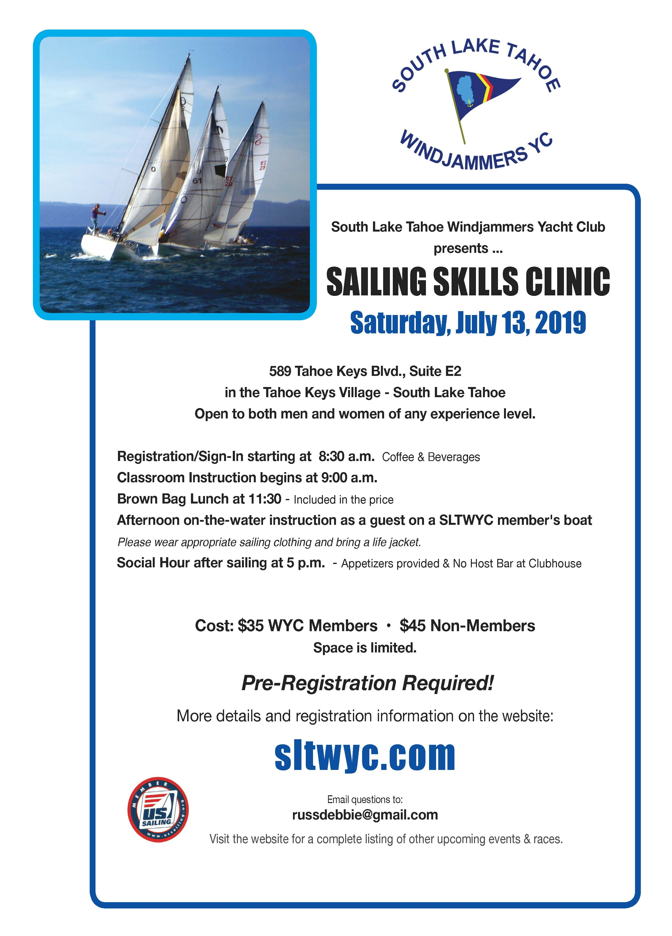 Sailing Clinic Flyer 2019